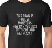 ...Full of Monsters - White Text Unisex T-Shirt