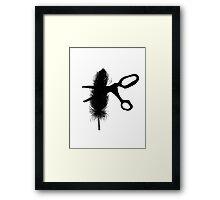Snip, Gone Framed Print