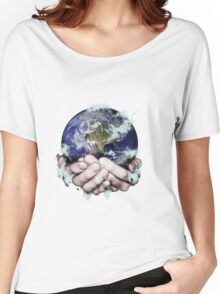 The World Freezing in my Hands Women's Relaxed Fit T-Shirt