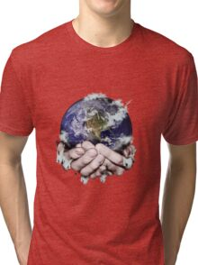 The World Freezing in my Hands Tri-blend T-Shirt