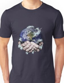 The World Freezing in my Hands Unisex T-Shirt