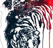 Painted watercolor tiger Sticker