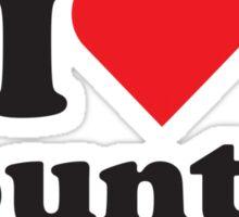 I Heart Love Country Sticker