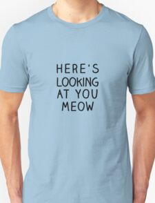Casablanca Meow Typography T-Shirt
