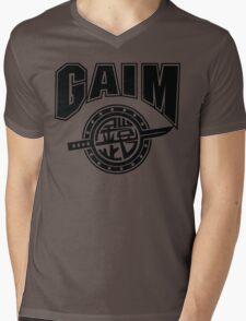 Gaim Crew (black) Mens V-Neck T-Shirt