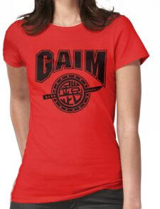 Gaim Crew (black) Womens Fitted T-Shirt