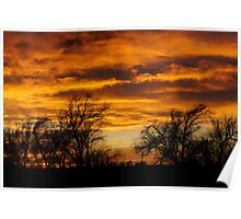 Western Kansas Sunset Poster