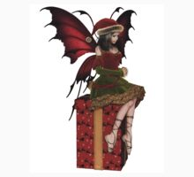 Christmas Fairy Elf Girl Sitting on a Present Kids Clothes