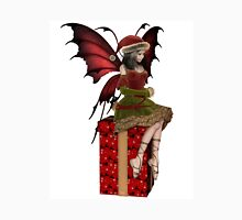 Christmas Fairy Elf Girl Sitting on a Present Unisex T-Shirt