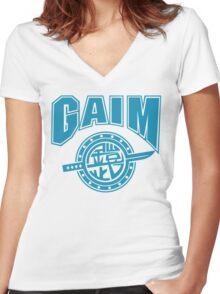 Gaim Crew (light blue) Women's Fitted V-Neck T-Shirt