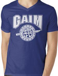 Gaim Crew (white) Mens V-Neck T-Shirt