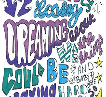 Counting Stars Lyric Drawing  by smentcreations