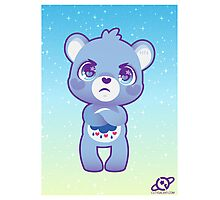 Grumpy bear Photographic Print