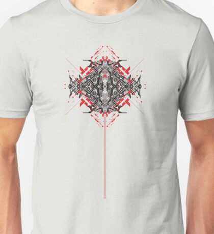 Abstract Technology 1 (Red Line) Unisex T-Shirt