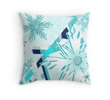 A Crystal Winter Throw Pillow