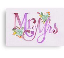 Mrs & Mrs Canvas Print