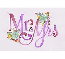 Mrs & Mrs Photographic Print