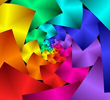 Beautiful Rainbow Spiral by Kitty Bitty