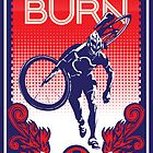Feel the Burn retro cycling poster by SFDesignstudio