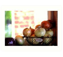 the Onion collection.. Art Print