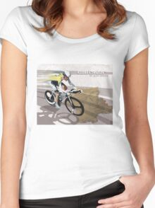 retro cycling poster Contador El Pistolero Women's Fitted Scoop T-Shirt