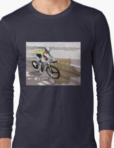 retro cycling poster Contador El Pistolero Long Sleeve T-Shirt