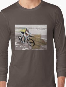 retro cycling poster Contador El Pistolero Long Sleeve T-Shirt
