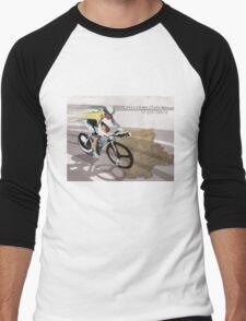 retro cycling poster Contador El Pistolero Men's Baseball ¾ T-Shirt