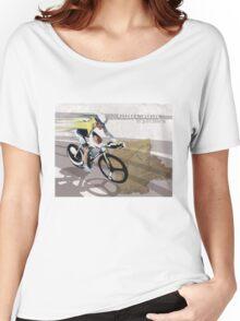 retro cycling poster Contador El Pistolero Women's Relaxed Fit T-Shirt