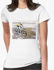 retro cycling poster Contador El Pistolero Womens Fitted T-Shirt