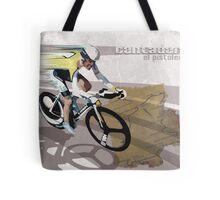 retro cycling poster Contador El Pistolero Tote Bag
