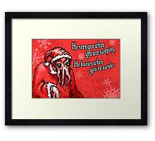 Cthulhu Claus Is Coming to Town Framed Print