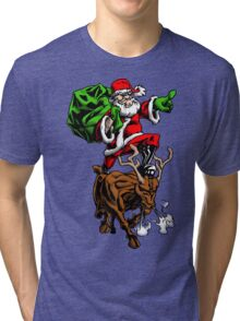 Santa Adventurer Extraordinaire  Tri-blend T-Shirt
