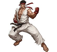 Street fighter-Ryu t shirt  Photographic Print