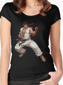 Street fighter-Ryu t shirt  Women's Fitted Scoop T-Shirt