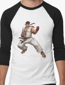 Street fighter-Ryu t shirt  Men's Baseball ¾ T-Shirt