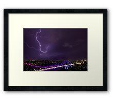 Purple Story Framed Print
