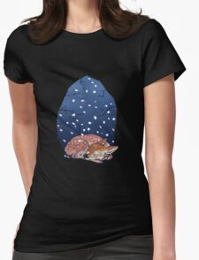 Sleeping Fawn Womens Fitted T-Shirt