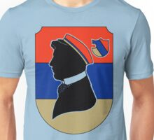 Vintage red and blue German student corps colours Unisex T-Shirt