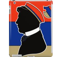 Vintage red and blue German student corps colours iPad Case/Skin