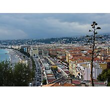 Promenade des Anglais and Cours Saleya from Above - Nice, France, French Riviera Photographic Print