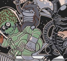 Where The Nasty Aliens Are Sticker