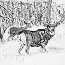 Winter Deer, new Hi-Res by GEORGE SANDERSON