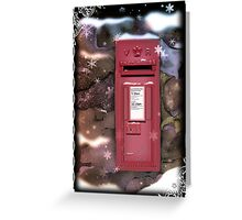 Traditional Red Post Box Christmas design { version 2 } Greeting Card