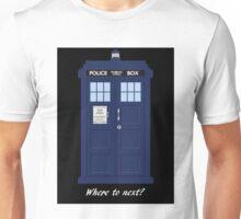 TARDIS - Where to next? Unisex T-Shirt