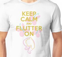 Keep calm and Flutter On Unisex T-Shirt