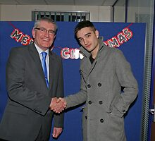 Tom Parker from The Wanted with John Riley by Keith Larby