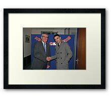 Tom Parker from The Wanted with John Riley Framed Print