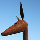 Rusty Kangaroo Head by Staffaholic