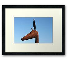 Rusty Kangaroo Head Framed Print